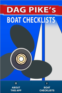 Boating Checklists for sailors and boaters