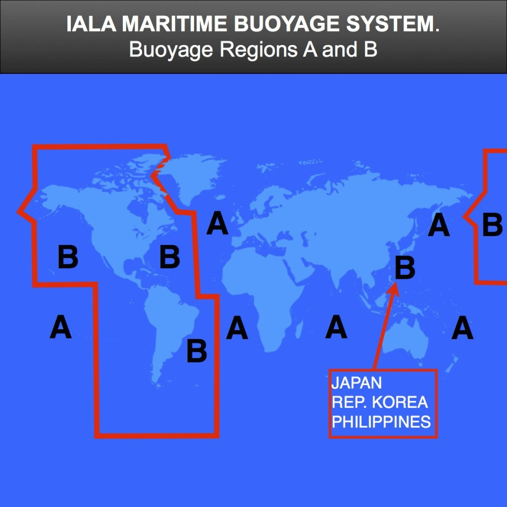 IALA buoyage map