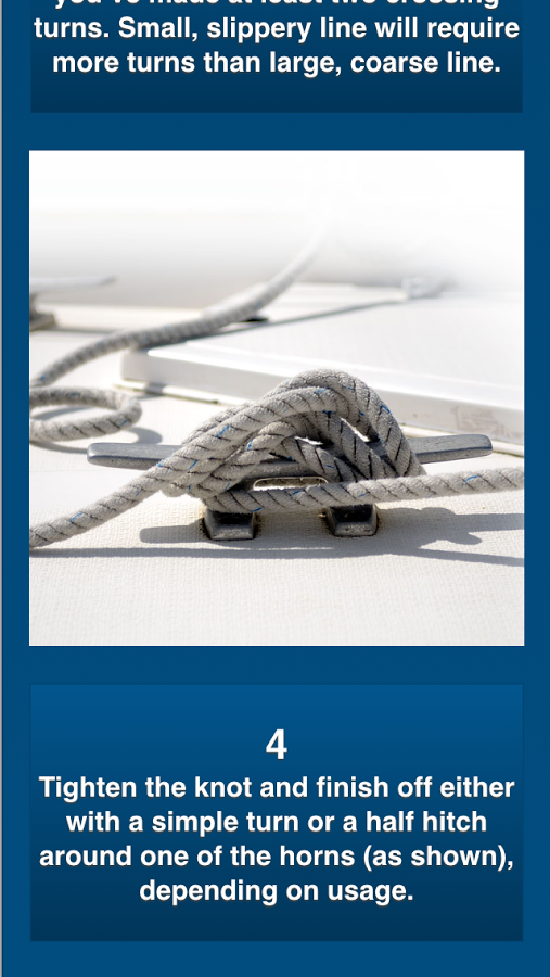 The Knot Bible app - 50 most useful sailing knots