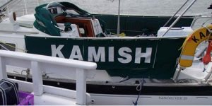Guard rails on Kamish - Boat improvement advice from Safe Skipper, discount boat insurance from Towergate Boat Insurance