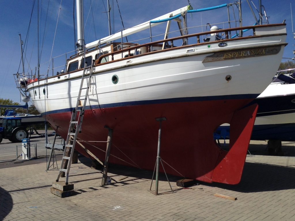 Traditional long keel yacht