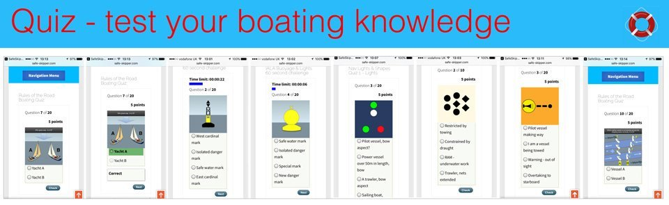 Boating Quiz section