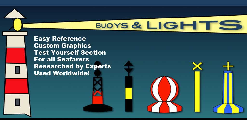 The ultimate boating quiz Learn Nautical Buoys & Lights for all sailors, skippers, app made by experts