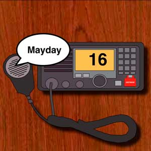Boating emergency - how to broadcast a MAYDAY emergency call