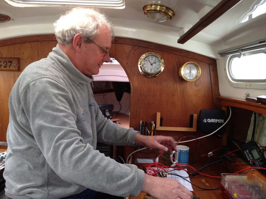 Rewiring a Contessa yacht
