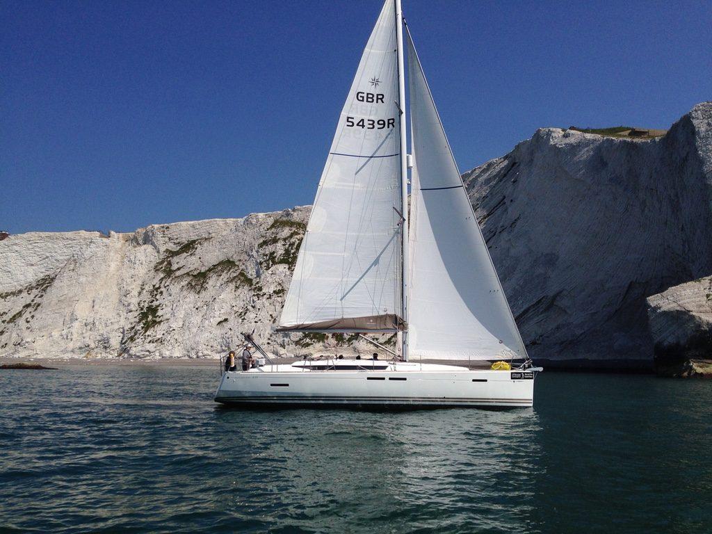 Yacht under sail