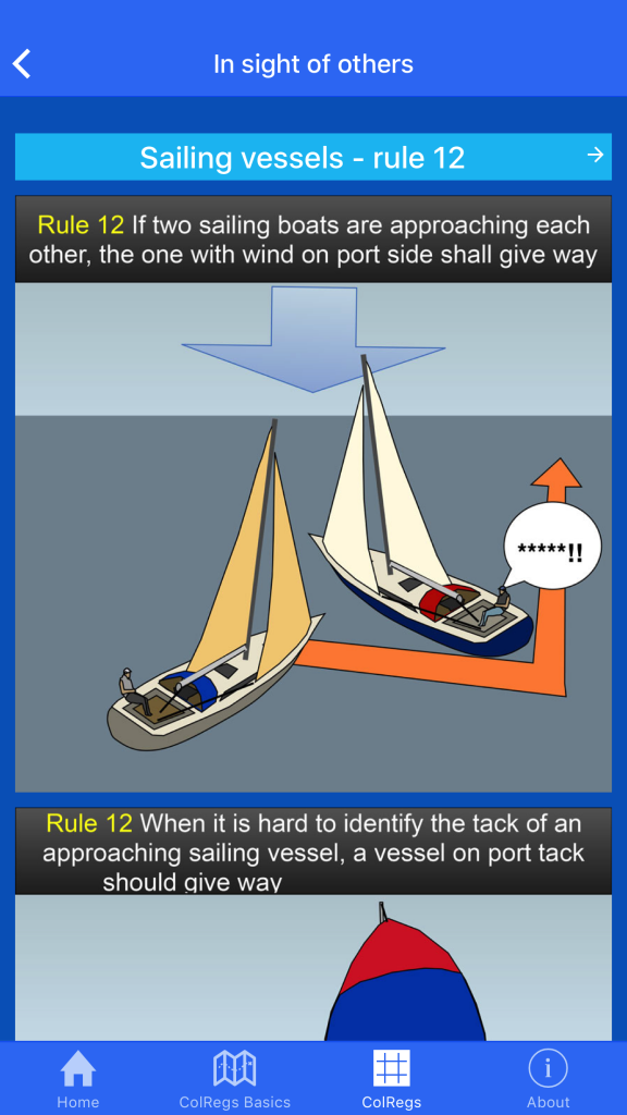 Learn to Sail - Sunsail Sailing Schools Colregs App for iPhone & Android