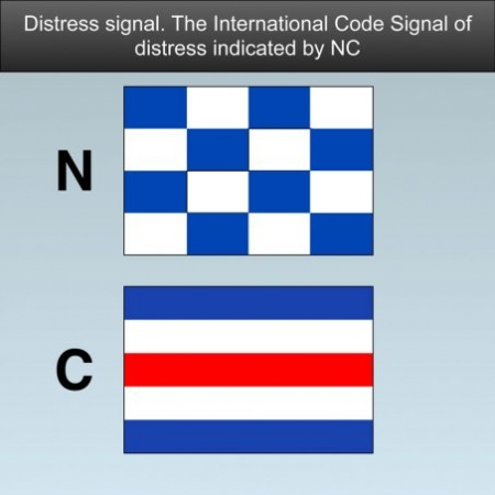 Distress Signals for boats - The International Code Signal of distress indicated by N.C #safeskipper #boating #sailing #yacht #motorboat #apps